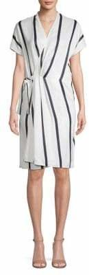 Equipment Leonce Striped Wrap-Style Dress