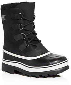 Sorel Men's Caribou Waterproof Nubuck Leather Cold-Weather Boots