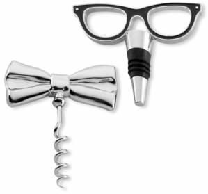 Kate Spade Two of a Kind Bottle Stopper and Corkscrew Set
