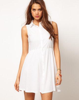Asos Shirt Dress With Collar