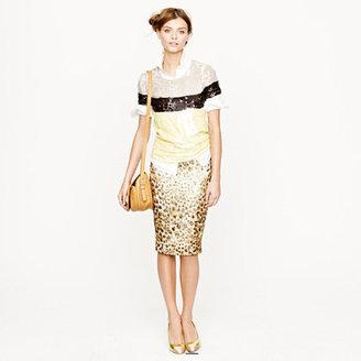 J.Crew Collection cheetah brocade pencil skirt