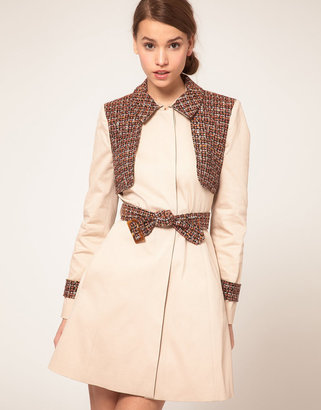 Asos Trench With Contrast Panels