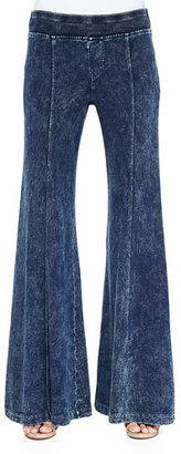 XCVI French Terry Wide-Leg Pants $145 thestylecure.com