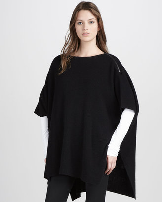 Vince Corded Ribbed Poncho