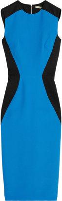Victoria Beckham Cotton twill-trimmed silk-blend dress