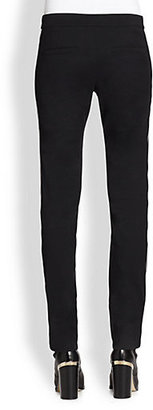 Reed Krakoff Leather-Trimmed Canvas Pants