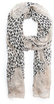 MANGO Animal print lightweight scarf