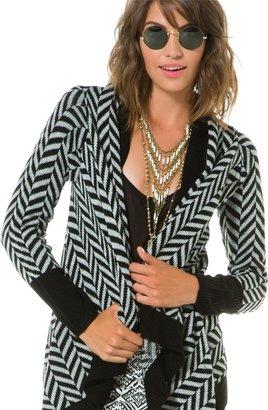 BB Dakota Vice Oversize Patterned Sweater