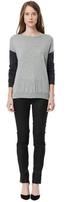 Rebecca Taylor Colorblocked Crew Sweater