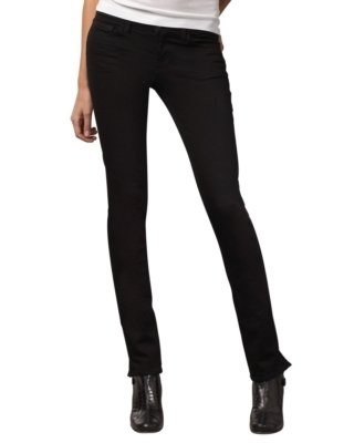 J Brand Jeans Pencil Split Skinny Jeans, Black