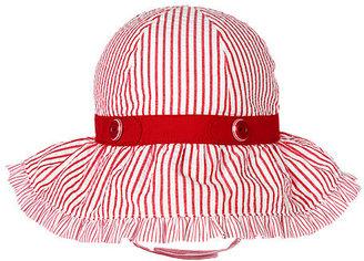 Gymboree Button Stripe Seersucker Sunhat