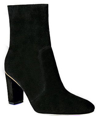 Brian Atwood B by Cristelle - Suede and Metal Heel Bootie
