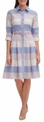 Tommy Hilfiger Striped Cotton Shirtdress