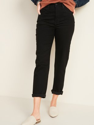 Old Navy Extra High-Waisted Sky-Hi Straight Black Jeans for Women