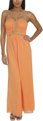 Arden B One Shoulder Embellished Dress