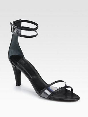 Tibi Dylan Translucent Ankle Strap Sandals