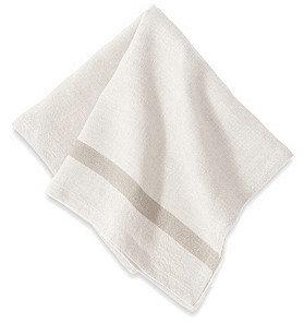 S4 S/4 Linen Napkins, White/Natural