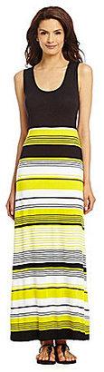 Chaus Striped Maxi Dress