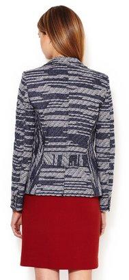 Derek Lam Cotton Fringed Tweed Blazer