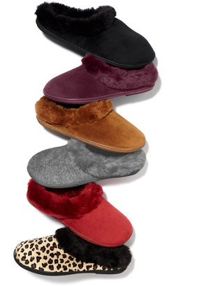 Charter Club Microsuede Velour Clog with Faux Fur