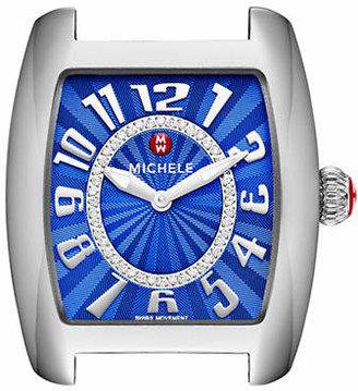 Michele Analog Urban Mini Stainless Steel Watch Face with 0.11 TCW Diamonds