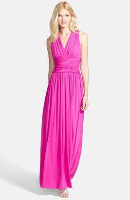 Halston Crisscross Jersey Gown