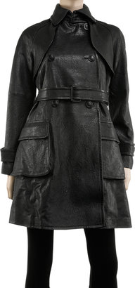Max Studio Washed Lamb Trench Coat