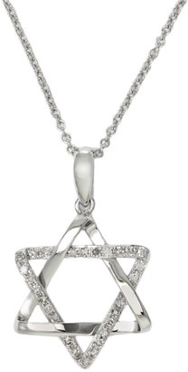 EFFY COLLECTION Diamond-Accented Star of David in 14 Kt. White Gold