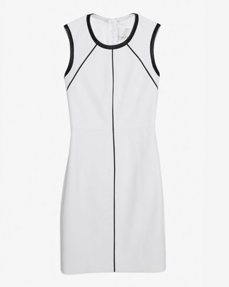 Yigal Azrouel Exclusive Leather Trim Cut Out Back Dress