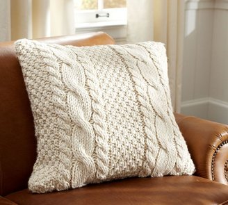 Pottery Barn Hand-Knit Cable Pillow Cover