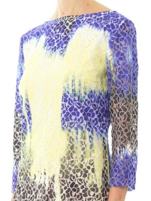 MSGM Tie-dye lace dress