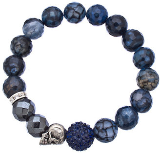 Blue Fire Very Me Skull Bracelet