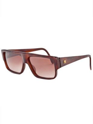 American Apparel Vintage Emanuelle Khanh Rectangular Tortoise Sunglasses