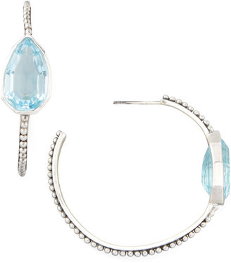 Stephen Dweck Cathedral Small Hoop Earrings, Blue Topaz