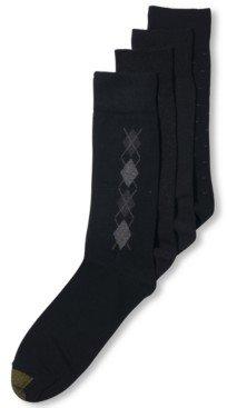 Gold Toe Men's Socks, 4 Pack Clocking Dress Men's Socks, Created for Macy's