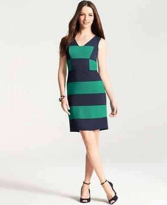 Ann Taylor Woven Colorblocked Dress