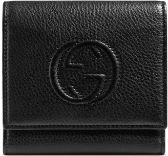 Gucci Soho leather flap wallet