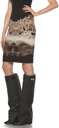 Givenchy Cathedral Print Skirt in Black Multi