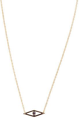 Jennifer Zeuner Jewelry Mini Raquel Evil Eye Necklace