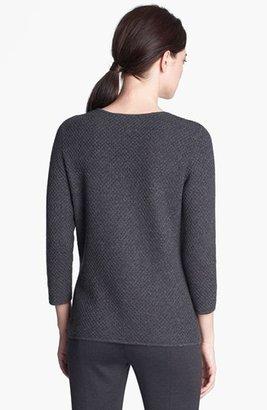 St. John Scoop Neck Cashmere Knit Sweater