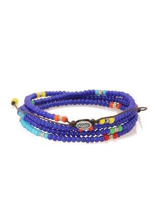 M.COHEN African Trade Glass Bead Wrap Bracelet