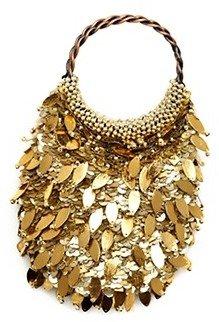 Josie Natori Gold Beaded Handbag