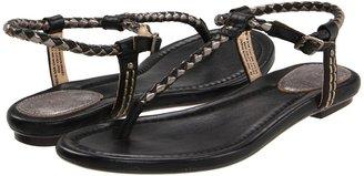 Frye Madison Braided (Black Multi Burnished Antique Leather/Mirror Metallic) - Footwear