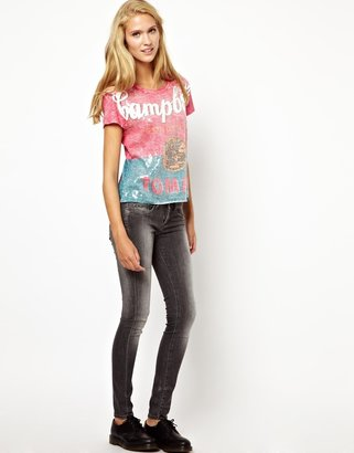 Pepe Jeans Andy Warhol Sequinned Campbell T-Shirt