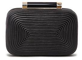 Diane von Furstenberg Tonda Coil Small Clutch In Black
