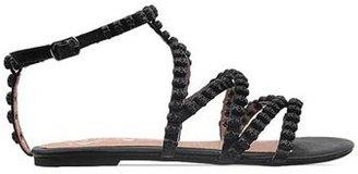 Jeffrey Campbell Muertos Skull Sandal in Black
