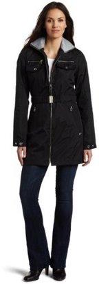 Miss Sixty Women's Cinched-Belt Zip-Front Coat