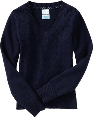 Old Navy Girls Uniform V-Neck Sweaters
