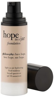 Philosophy 'Hope In A Jar' Light-As-Air Hydrating Fluid Foundation Spf 20 $39 thestylecure.com