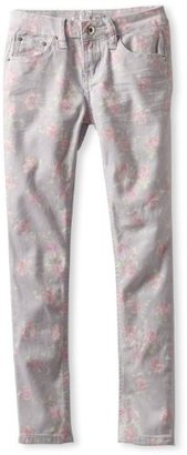 YMI Jeanswear Big Girls' Flower Printed Skinny
